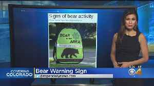Bear Warning Signs Pop Up In Aspen [Video]