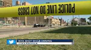 Man recovering after being shot while driving [Video]