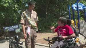 Boy Scout Working On Eagle Scout Project Helps Rebuild NJ Playground [Video]