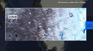 Before and after pictures show Greenland's rapid ice melt from space [Video]