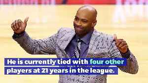 Vince Carter Becomes Longest Tenured Player in NBA History [Video]