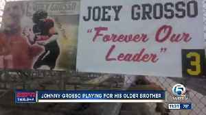 Johnny Grosso playing football for his older brother [Video]