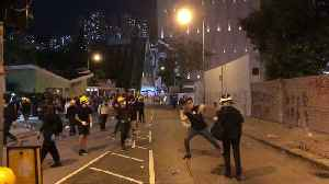 Hong Kong Protesters Hurl Projectiles, Smash Windows as Citywide Strike Continues [Video]