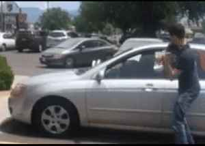 Man Smashes Window to Save Dog Inside Hot Car in Albuquerque [Video]
