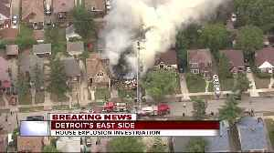 Emergency crews on the scene of house explosion on Detroit's east side [Video]