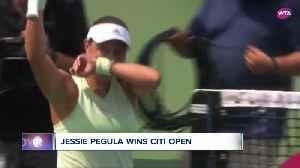 Jessie Pegula wins Citi Open [Video]