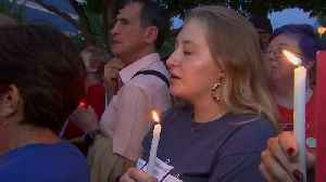 News video: Hundreds hold vigil at NRA headquarters for shooting victims