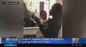 Cardi B Shares Video Showing Offset Style Daughter's Hair [Video]