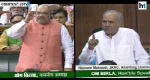 Amit Shah vs NC MP Masoodi: Heated debate on Syama Prasad Mookerjee, Art 370 [Video]