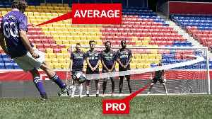 Can an Average Guy Score a Free Kick on a Professional Goalkeeper? [Video]