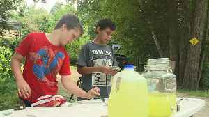 Siblings set up lemonade stand to raise money for place to live while mother battles cancer [Video]