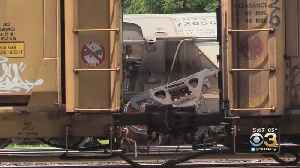 Freight Train Derails In Allentown [Video]