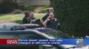 Police Shoot, Wound Man Who Charged At Officers [Video]