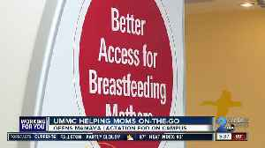 UMMC helping moms on-the-go with Mamava lactation pods [Video]