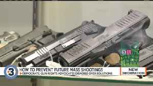 News video: What is the best way to prevent future mass shootings? Democrats, gun rights advocates disagree