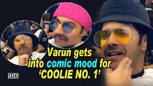 Varun gets into comic mood for 'COOLIE NO. 1' [Video]