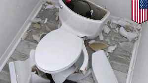 Toilet explodes after lighting strike hits Florida home's septic tank [Video]