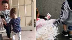 ADORABLE RELATIONSHIP SHOWS BIG BROTHER TAKING CARE OF HIS BABY SISTER WITH DOWN SYNDROME [Video]