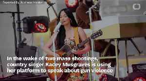 Country Singer Kacey Musgraves Speaks Out Against Gun Violence [Video]