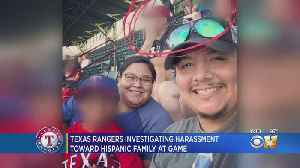 Rangers Ball Club Investigating Alleged Racial Harassment Of Hispanic Family At Game [Video]