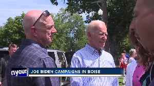 News video: Democratic presidential candidate Joe Biden holds campaign fundraiser in Boise