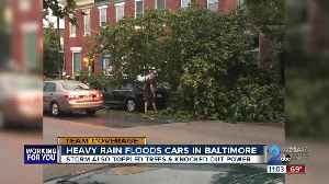 Heavy rains flood cars in Baltimore [Video]