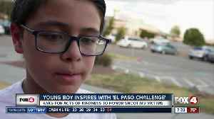 Young boy inspires with