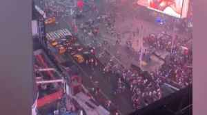 Times Square panic over 'gunfire' false alarm [Video]