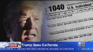 President Trump Sues California Over New Tax Return Law [Video]