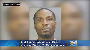 Fort Lauderdale Woman Bites Accused Burglar To Escape Attack [Video]