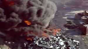 Multiple Fire Agencies Battle Massive Fire at Illinois Recycling Plant [Video]