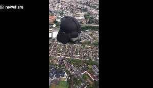 Hot air Darth Vader takes to Bristol skies as part of balloon fiesta [Video]