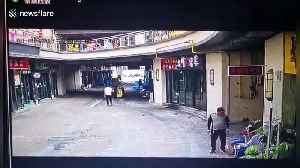 Chinese snack bar explodes due to gas leak leaving two people injured [Video]