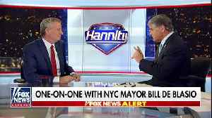 Bill de Blasio and Sean Hannity talk illegal immigration [Video]