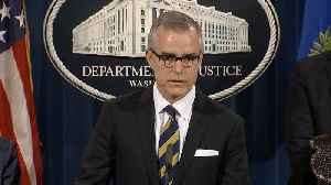 Former FBI Deputy Director Andrew McCabe Sues Over His Firing [Video]