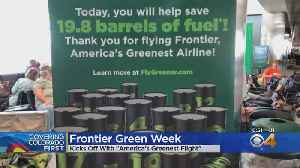 Frontier's 'Greenest Flight' Prepares For Takeoff [Video]