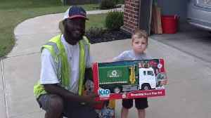 Sanitation Worker Gifts Boy Toy Recycle Truck In Viral Photo [Video]