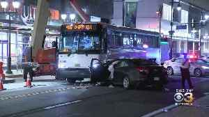 New Jersey Transit Bus, Car Collide In Center City [Video]