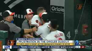 Tension at Wednesday night Orioles game, not against the teams but between a play and manager [Video]