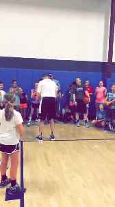 Coach Shoots Full Court Backwards [Video]