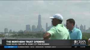 Tiger Woods Tees Off In New Jersey [Video]