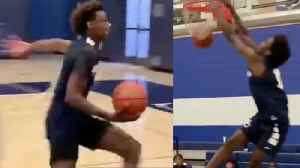 Bronny James & Zaire Wade Show Off INSANE Skills In Late Night DUNK OFF! [Video]