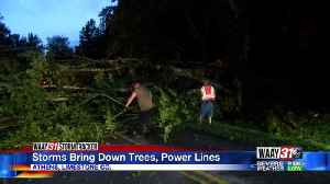 Storms Bring Down Trees, Power Lines [Video]