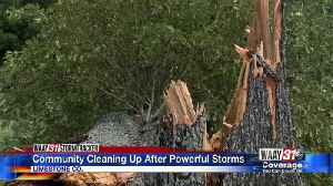 Limestone County neighbors cleaning up after powerful storm [Video]