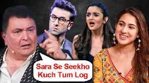 Rishi Kapoor ANGRY On Stars, PRAISES Sara Ali Khan For Her Airport Look [Video]