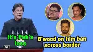 It's Pak's loss: B'wood on film ban across border [Video]