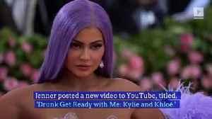 Kylie Jenner and Khloé Kardashian Post Drunk Makeup Tutorial [Video]