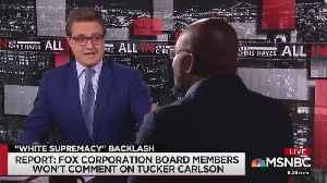 MSNBC guest: Tucker Carlson supports terrorism by spreading 'white nationalist rhetoric' [Video]