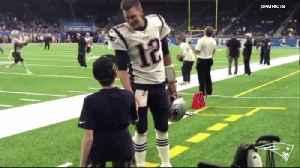 News video: Michigan's Larry Prout Jr meets Tom Brady