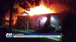 Apartment fire in Livonia forces evacuations; firefighters trying to identify cause [Video]